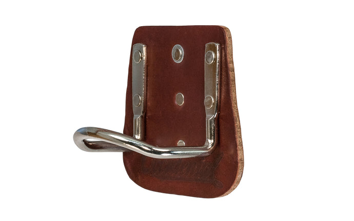 Made in USA - Occidental Leather 5040 Clip-On Hammer Holder. Made of quality leather & steel. Allows quick on & off installation, anytime & anywhere - High Quality - Compact Hammer Holder - 3