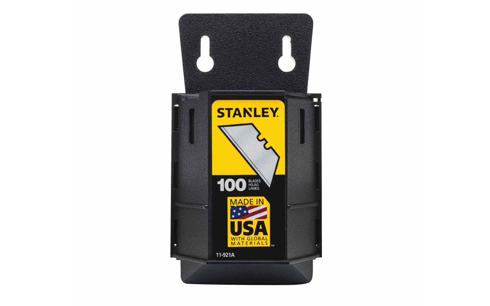 Stanley Heavy Duty Utility Blades With Dispenser ~ 11-921A - Made in USA - 100 Pack