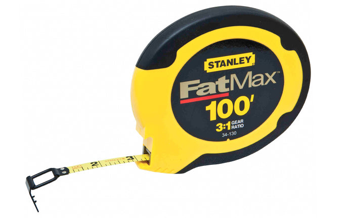 Stanley Fatmax 100' Steel Blade Tape Measure ~ 34-130