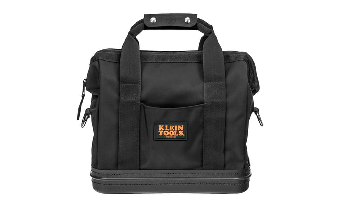 Klein Tools - Made in USA - Model 5200-15 - Made of Cordura fabric, a high-performance material resistant to abrasions, tears & scuffs - 8-interior & 2-exterior pockets hold a wide assortment of hand tools & supplies - Large opening with reinforced steel frame - Box-stitched handles and D-ring shoulder strap - 15