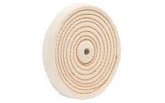 "6"" Spiral Sewn Buffing Wheel ~ 1"" Thick - 1/4"" wide spiral sewn stitching ~ Made in USA"