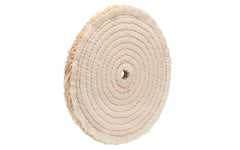 "8"" Sisal Buffing Wheel ~ 1/2"" Thick - 1/4"" wide spiral sewn stitching ~ Made in USA"