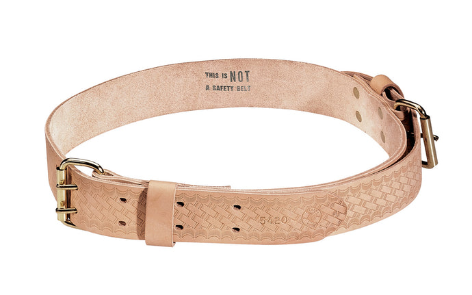 Klein Tools - Made in USA - 5420M - 5420L - 5420XL - Made heavy-duty leather construction - Belt is 2