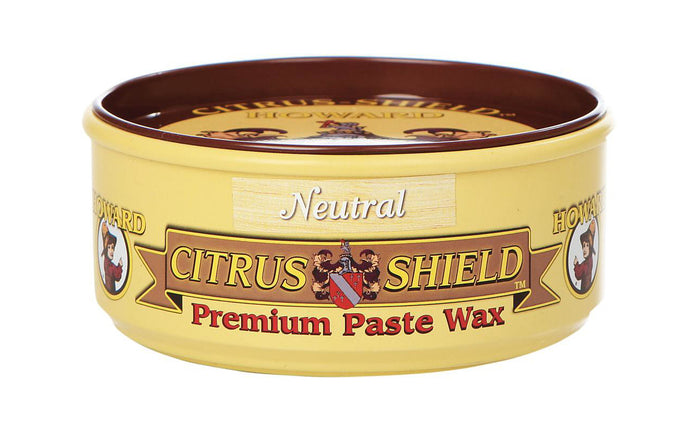 Howard Citrus Shield Premium Paste Wax - 11 oz ~ Neutral - Made in USA - Model No. CS0014 ~ Brings back color, while conditioning & enhancing the natural beauty of the wood grain on finished & unfinished woods - excellent for polishing & protecting wood finishes on antiques, furniture, cabinets, paneling & wood floors