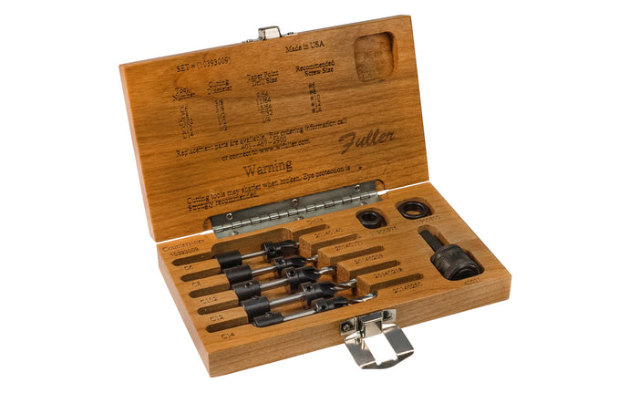 W.L. Fuller #9 Countersink Drill Set With Wooden Box - Model No. 10393009 ~ Made in USA