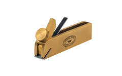 "Crown Tools Brass Miniature 3"" Bullnose Plane ~ Model No. MPBNW"