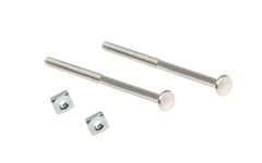 Nickel Silver Bolts & Nuts For Glass Pulls
