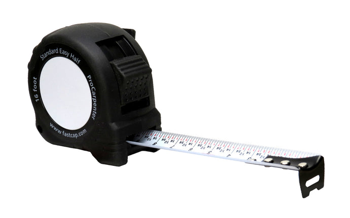 FastCap ProCarpenter Standard Easy Half Tape Measure - 16' - Model No. PS EASY HALF - Will find the center of any board in seconds