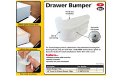 FastCap Drawer Bumper ~ 10 Pieces - Cabinet door protector - Eliminates drawer guide scratches