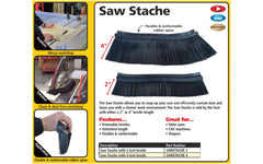 "FastCap Sawstache ~ 2"" Bristles x 25"" Long ~ Model SAWSTACHE 2 ~ The Saw Stache allows you to soup up your saw & efficiently contain dust & leave you with a cleaner work environment"