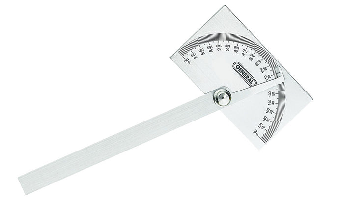 General Tools Stainless Steel Protractor ~ Square Head - Model No. 17