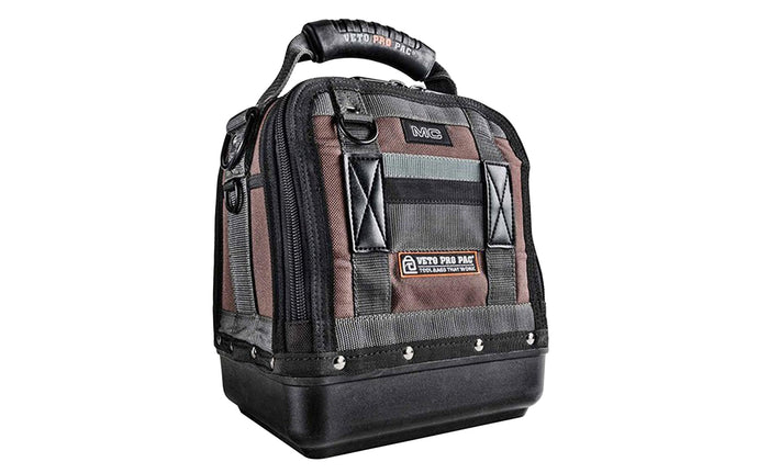 Veto Bags - Veto Pro Pac MC - 20 interior & exterior pockets - Compact storage bag with zipper - Waterproof thick polypropylene base - shoulder strap - 851578000424 - Model MC - tool storage - 10