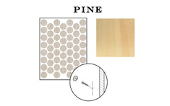"FastCap 9/16"" Pine Adhesive Cover Caps - Unfinished Wood ~ 260 Pieces - Model No. FC.MB.916.PN"