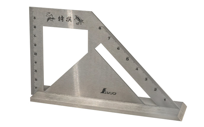 Shinwa Metric Combination Square With Wide Base ~ Miter Gauge & Miter Square 45° & 90° & 135°