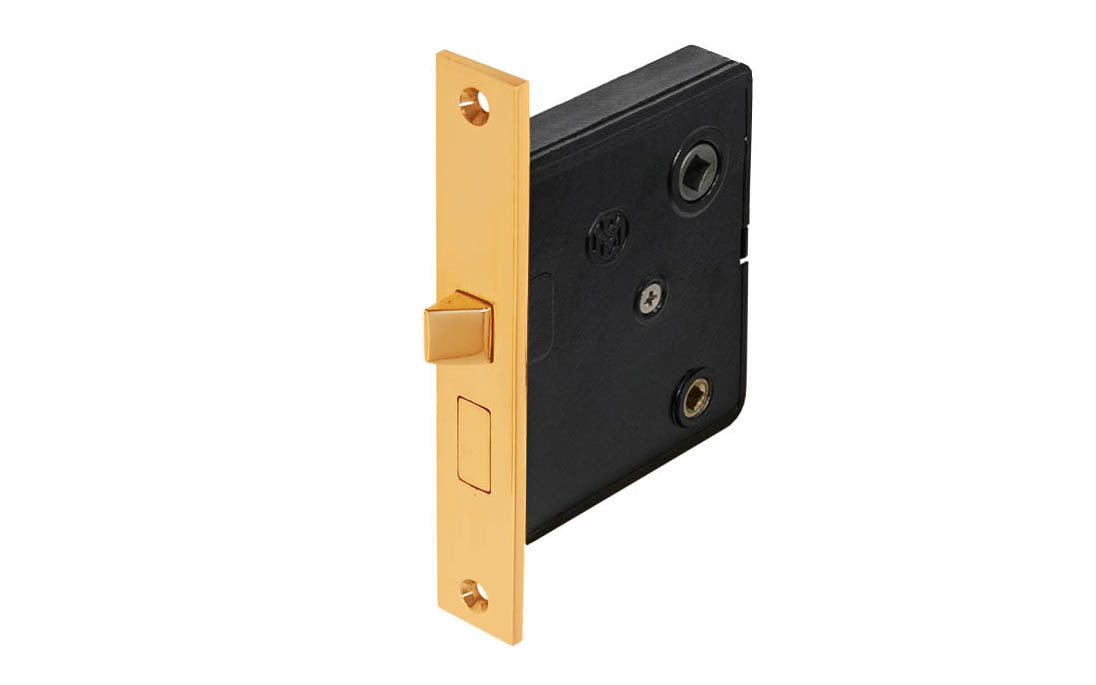 Classic Brass Interior Mortise Lock Set With Thumbturn Hole ~ Non-Lacquered Brass (will patina over time)