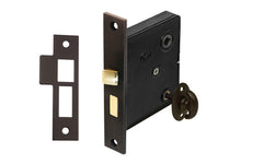 Classic Brass Interior Mortise Lock Set With Thumbturn ~ Oil Rubbed Bronze Finish