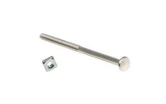 Nickel Silver Bolt & Nut For Glass Knob