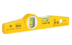 "Stabila 10"" (25 cm) Magnetic Torpedo Level ~ Type 81SM Die Cast - Model No. 25100 - Extra-strong Neodymium (rare-earth) magnet system is shake proof – leaves the hands free when aligning & positioning your work"