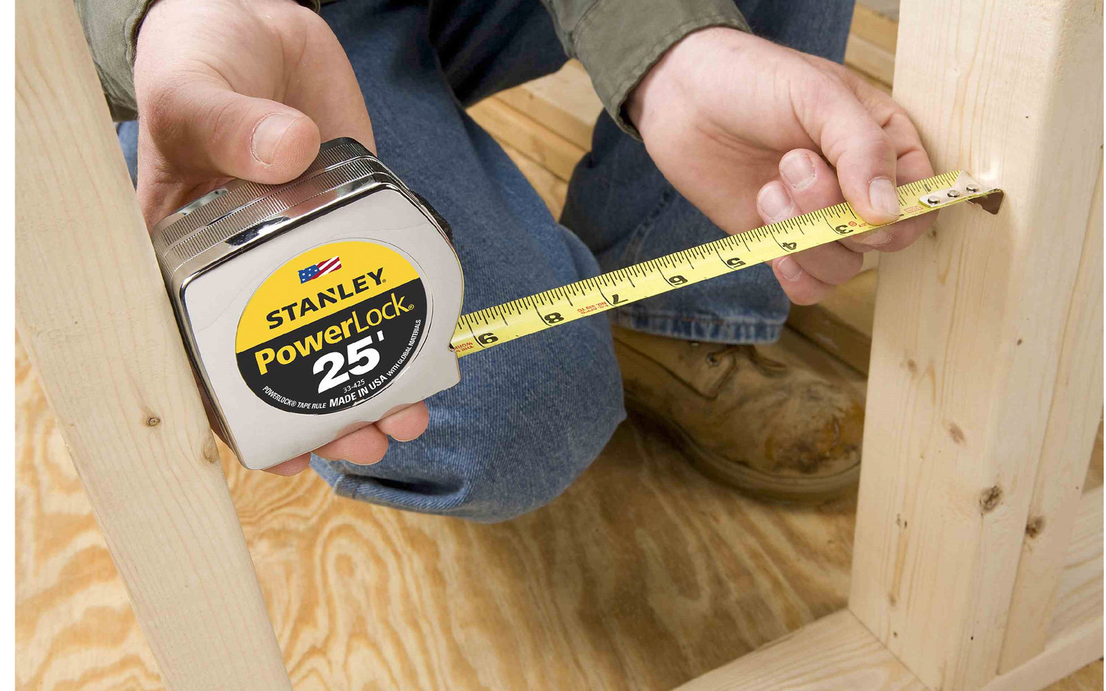 Stanley Powerlock 25' Tape Measure ~ 33-425 - Made in USA