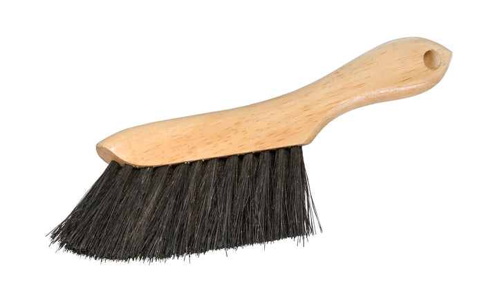 Made in USA · Well-made duster ~ Bristles are staple set in clear lacquered hardwood block ~ Moderate/Light stiffness - Great for wood chips, sawdust, glass chips, & general woodshop debris - Magnolia Counter Duster Model No. 223 - Tampico Hand brush - Foxtail duster - Beaver tail brush - Tampico - Small Hand whisk