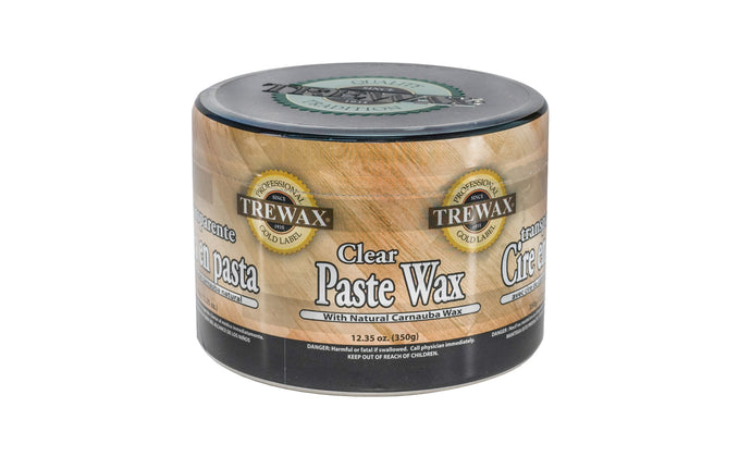 Trewax Clear Paste Wax with Natural Carnauba Wax - 12.35 oz - Clear - Made in USA - Restores the original brilliance to wood floors