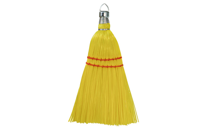 Yellow Plastic Whisk Broom - 12