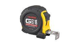 Tajima G-Series Tape Measure ~ 16' / 5m Long - Inches & Metric - Model No. G-16/5MBW