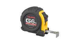 Tajima G-Series Standard Tape Measure ~ 6 Ft Long - Model G-6-BW
