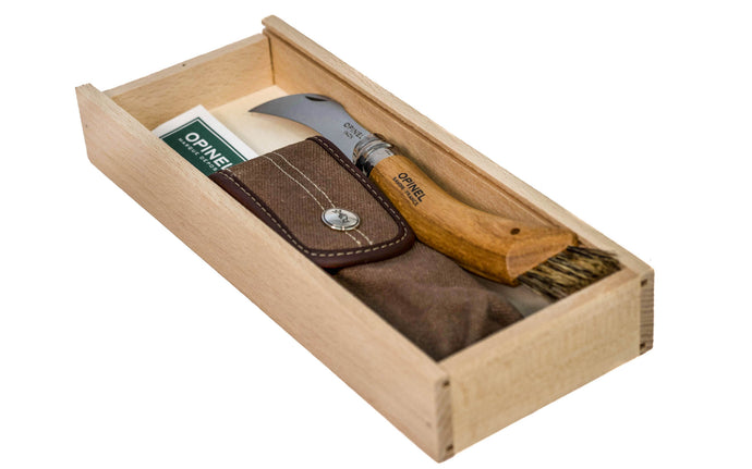 Opinel Stainless Steel Mushroom Knife Gift Box Set ~ Made in France