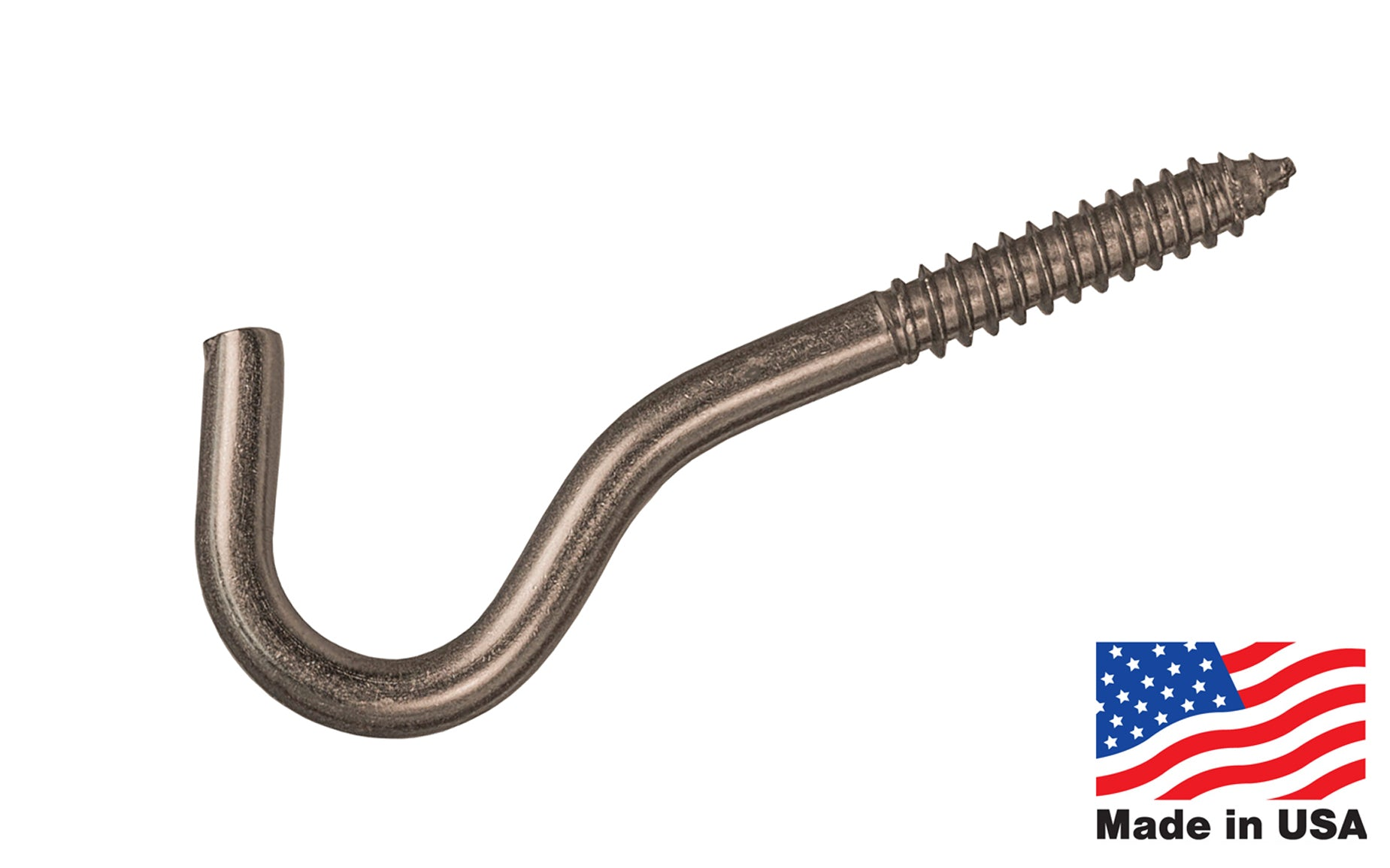 Heavy Duty Stainless Steel Screw Hook - Made in USA