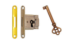 Mini Full-Mortise Cabinet & Drawer Lock with Strike