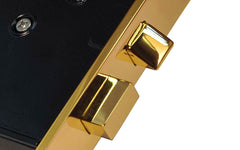 Classic Interior Mortise Lock Set ~ Non-Lacquered Brass (will patina naturally over time) ~ Closeup View