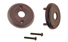 Classic Solid Brass Rosette Set ~ Passage (Non-Locking) ~ Oil Rubbed Bronze Finish