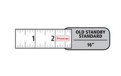 FastCap FlatBack Tape Measure - Old Standby style - Measurements in large, easy to read numbers ~ 16' - Model No. PS-FLAT16