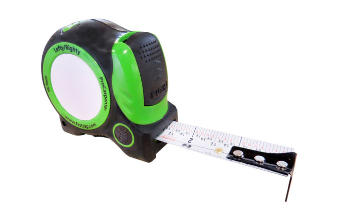 FastCap Lefty / Righty Auto-Lock Tape Measure ~ 16' - Model No. PSSR-16 AUTO ~ Standard Reverse