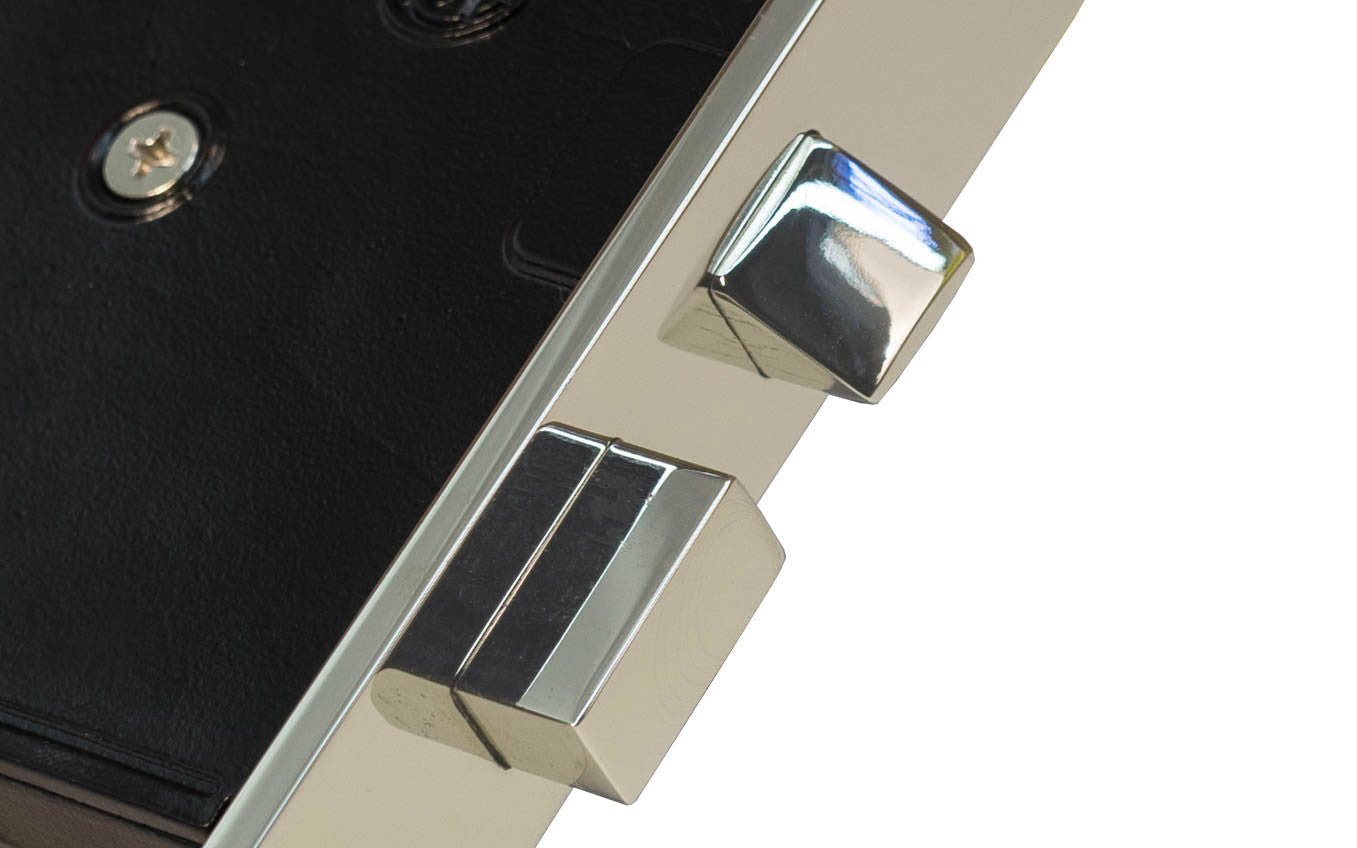 Classic Interior Mortise Lock Set ~ Polished Nickel Finish on Solid Brass Material ~ Closeup View