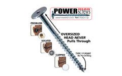 "FastCap 4"" Powerhead Cabinet Screws - T20 Torx Head ~ 100 Pack - PHZ8.4""-100PC - 9/16"" Diameter Head"