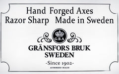 Hand Forged Axes ~ Gränsfors Bruk of Sweden