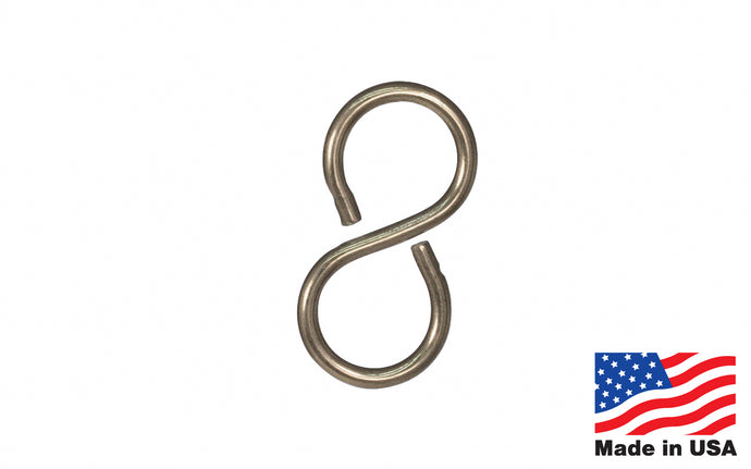Stainless Steel Closed S-Hook - Made in USA
