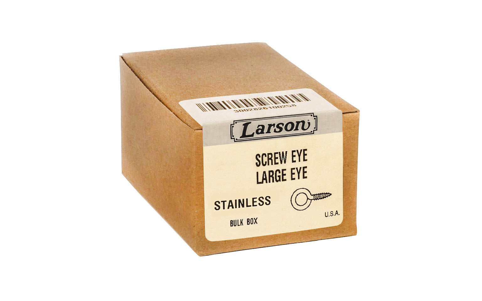 Bulk Box of Stainless Steel Screw Eyes ~ Large Eye - Made in USA