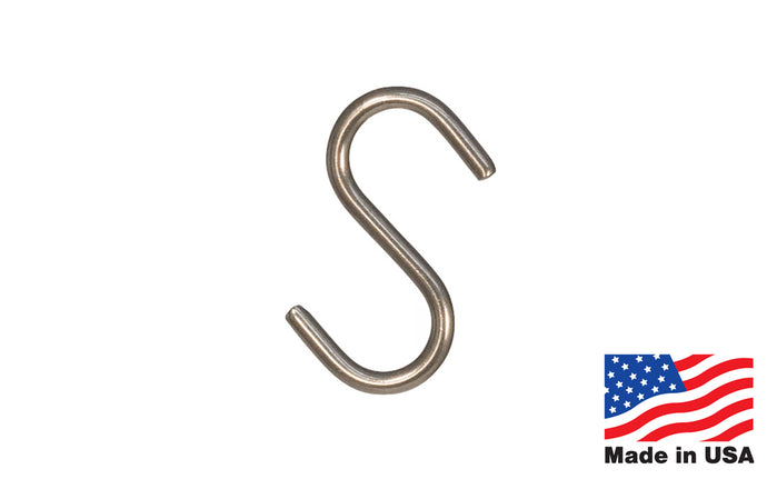 Stainless Steel S-Hook - Made in USA