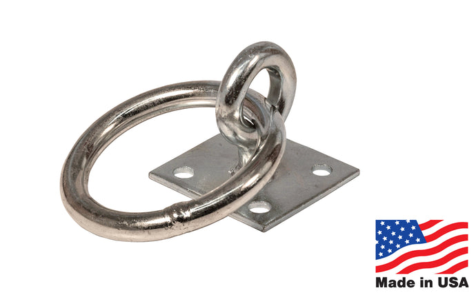 Zinc Plated Ring & Eye Pad ~ Made in USA