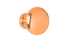 "Classic Brass Knob ~ 1-1/4"" Diameter ~ Polished Copper Finish"