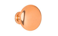 "Classic Brass Knob ~ 1-1/2"" Diameter ~ Polished Copper Finish"