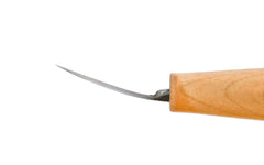 Mini Double-Edge Shallow Bent Carving Knife Profile ~ North Bay Forge
