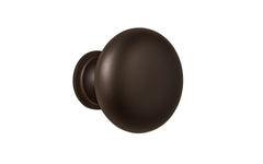 "Classic Brass Knob ~ 1-1/4"" Diameter ~ Oil Rubbed Bronze Finish"