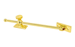 "Solid Brass Casement Adjuster Stay ~ 10"" Length"