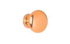 "Classic Brass Knob ~ 1"" Diameter ~ Polished Copper Finish"
