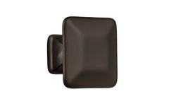 "Solid Brass Square Knob ~ 1-1/4"" Size ~ Oil Rubbed Bronze Finish"