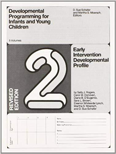 Early Intervention Developmental Profile. Revised edition-Sally Rogers, Carol Donovan, Diane D'Eugenio, Sara Brown, Eleanor Lynch, M. Moersch & D.S. Schafer-Special Needs Project